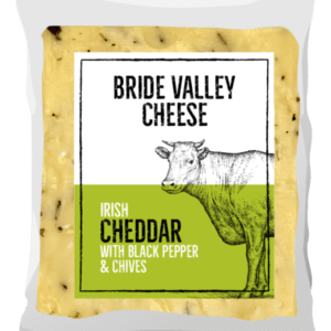 Bride Valley Cheese - Irish Cheddar with Black Pepper & Chives